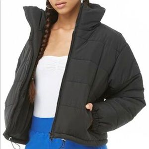 Funnel Neck Puffy Jacket